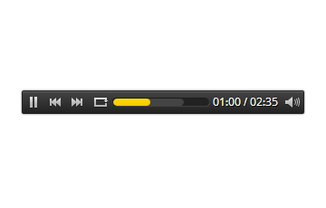 Bar Style HTML5 Audio Player