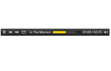 Bar Style HTML5 Music Player with Scrolling Title