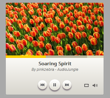 Light Color HTML5 Audio Player with Album Image and Description
