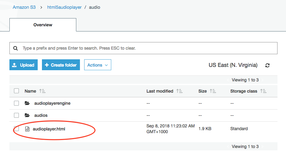 How to upload an audio player to Amazon S3 and embed it into your