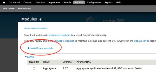 drupal-install-new-module
